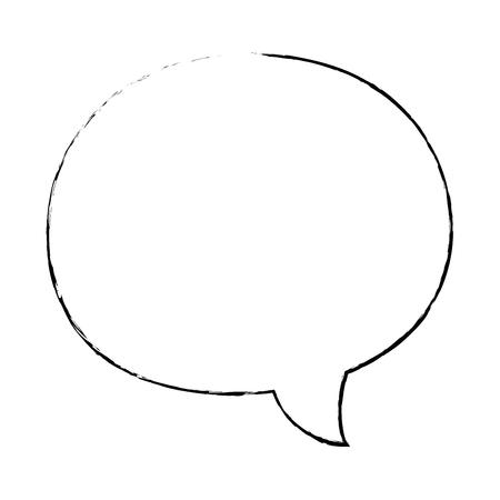 Spraakbel geïsoleerd Stock Illustratie