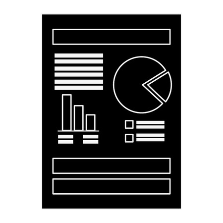 document with Statistical graphs Stock fotó - 82744464