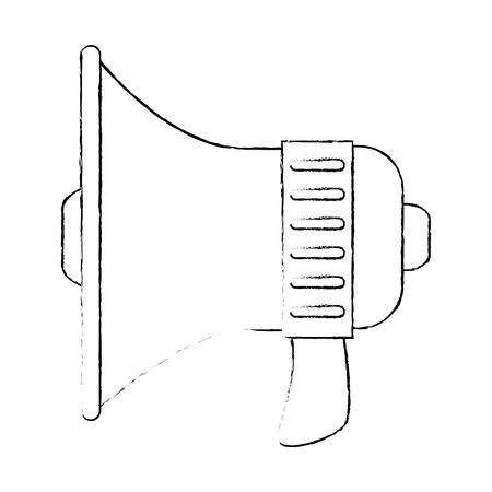 megaphone device isolated 向量圖像