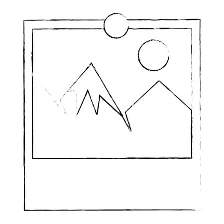 Landscape picture symbol