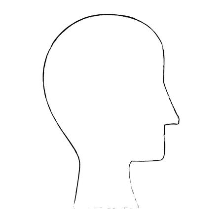 Menselijk hoofdsilhouet