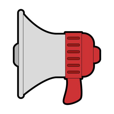 megaphone device isolated Ilustração