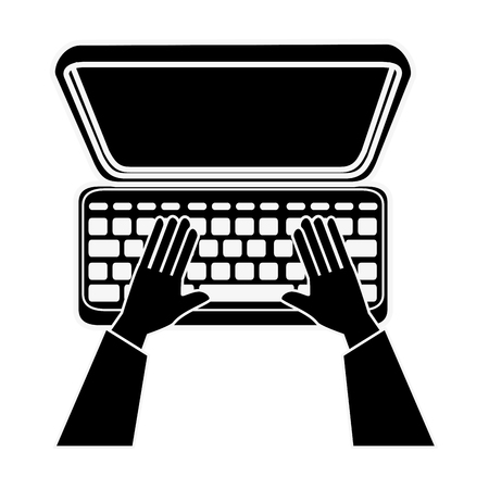 laptop computer icon Illustration