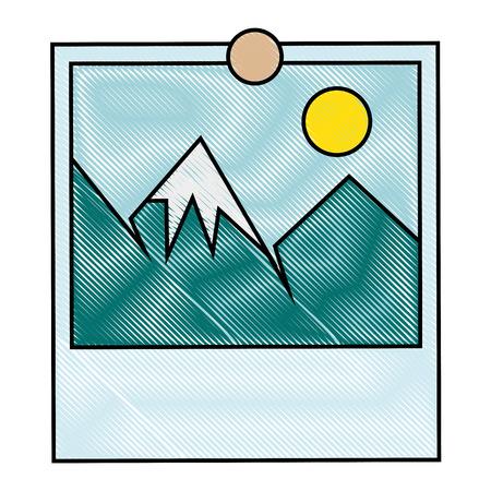 Landscape picture symbol Фото со стока - 82745556