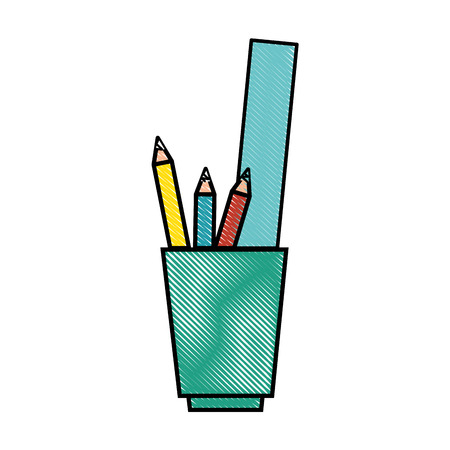 cup with pencils and utensils