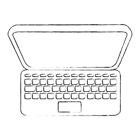 laptop computer icon Ilustrace