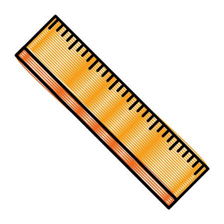ruler utensil icon Ilustrace