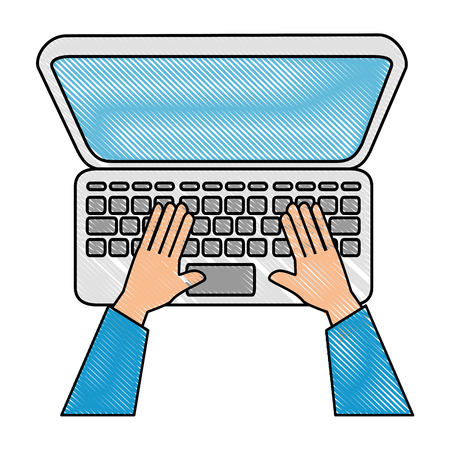 laptop computer icon Illustration