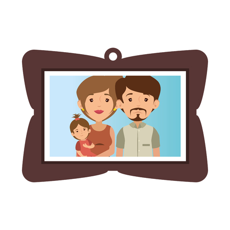 Marco con la imagen de la familia
