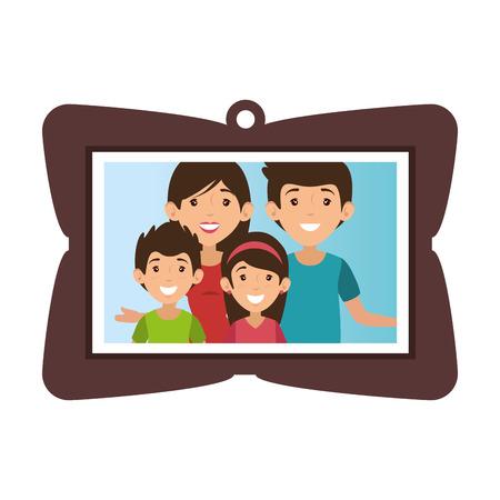 Cadre avec photo de famille Banque d'images - 82750776