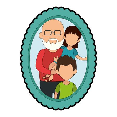 Cadre avec image de famille Banque d'images - 82740160