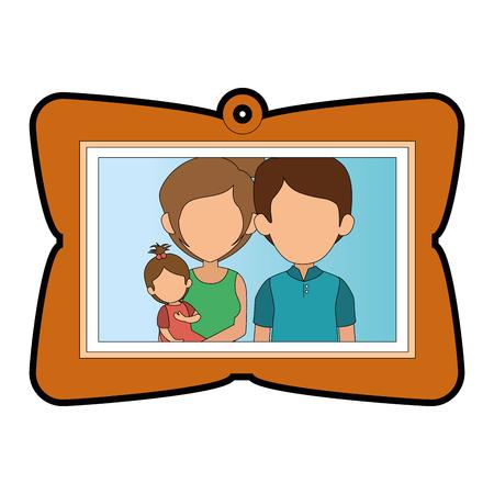 Cadre avec image de famille Banque d'images - 82750823