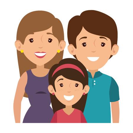 family with kids Banco de Imagens - 82740069