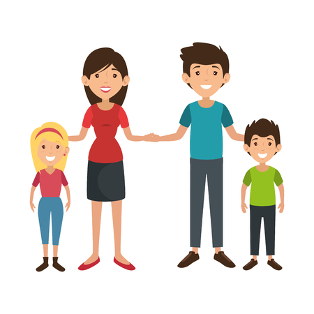 family with kids Banco de Imagens