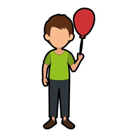 Boy kid cartoon Illusztráció