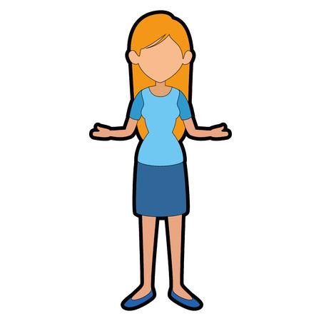 Woman cartoon faceless