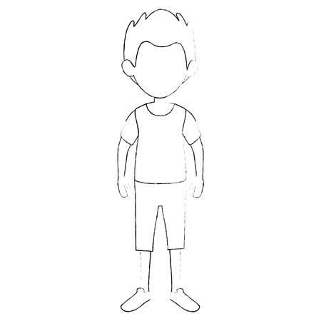 少年の子供漫画  イラスト・ベクター素材