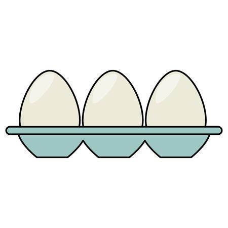 Eierbehälter isoliert Symbol Vektor-Illustration Design Standard-Bild - 82751103