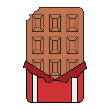 chocolate bar isolated icon vector illustration design