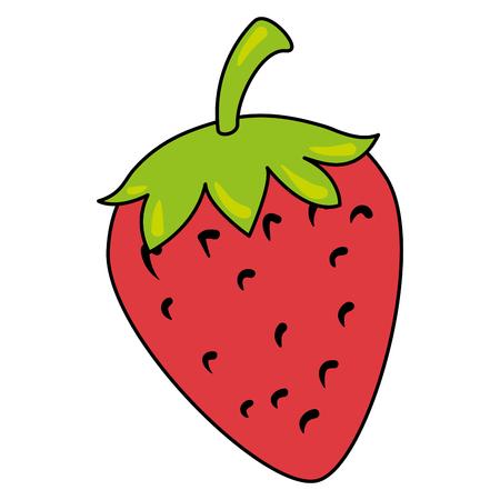 strawberry fresh fruit icon vector illustration design Illusztráció