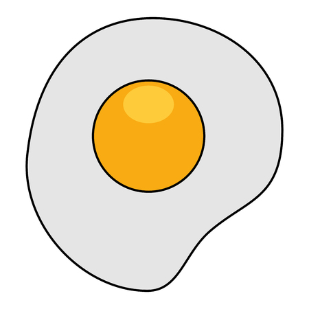 卵の揚げ分離アイコン ベクトル イラスト デザイン  イラスト・ベクター素材