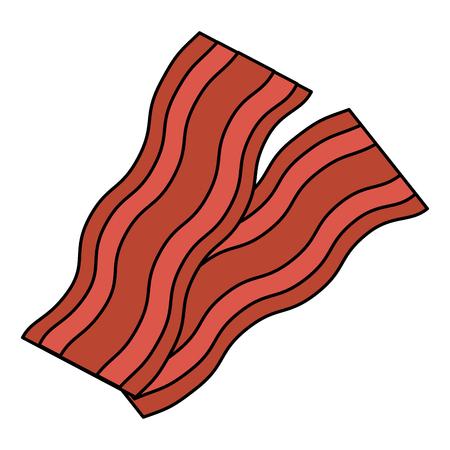 delicious bacon isolated icon vector illustration design