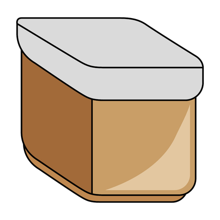 hermetic: Hermetic food container icon vector illustration design