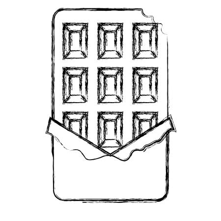chocolate bar isolated icon vector illustration design