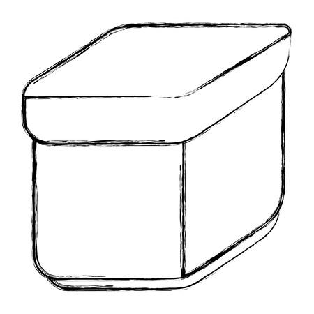 密閉フード コンテナー アイコン ベクトル イラスト デザイン