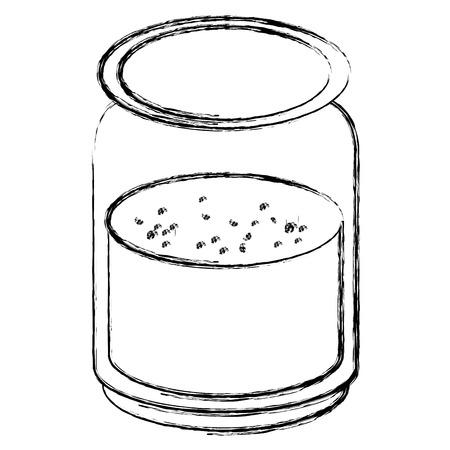 Bocal avec ingrédient cuisine illustration vectorielle design Banque d'images - 82751177