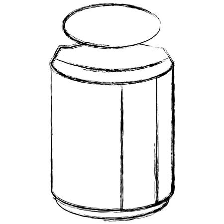 메이슨 항아리 성분 부엌 벡터 일러스트 디자인 일러스트