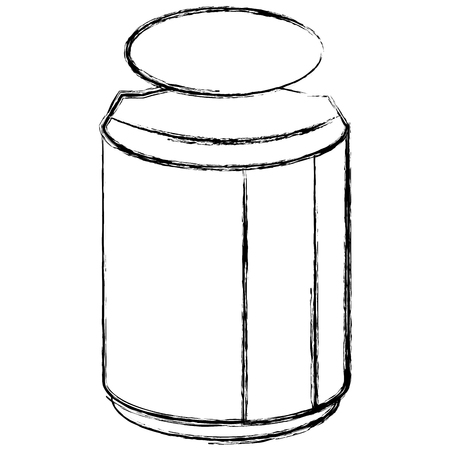 Pot de maçon avec design d'ingrédient cuisine vector illustration Banque d'images - 82751212