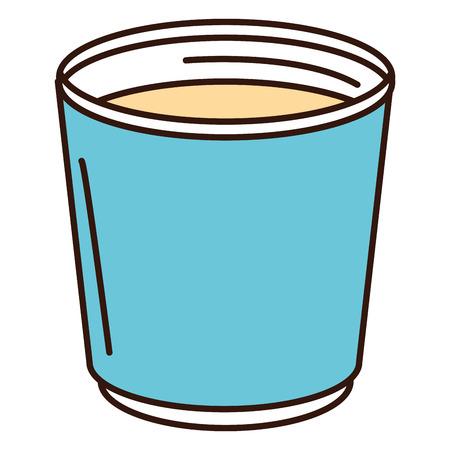 コーヒーのマグカップのアイコン ベクトル イラスト デザインを分離しました。 写真素材 - 82751239