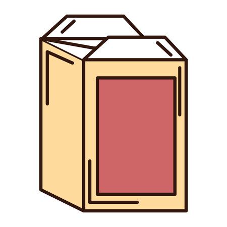 juice carton box icon vector illustration design