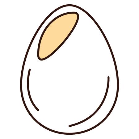 Uovo di gallina isolato icona illustrazione vettoriale di progettazione Archivio Fotografico - 82751254