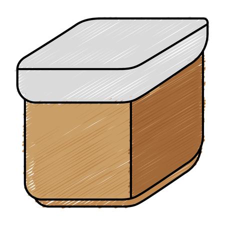 밀폐 식 식품 용기 아이콘 벡터 일러스트 디자인