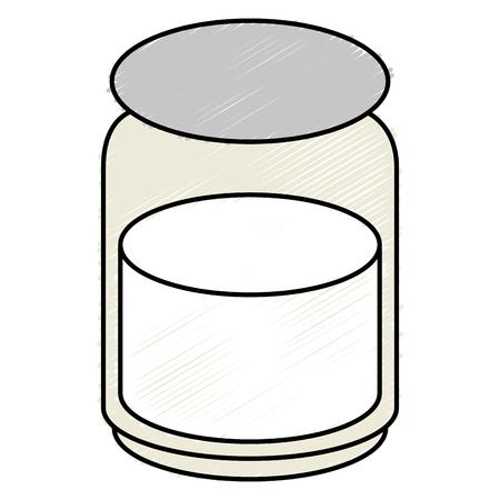 Jarra de albañil con el ingrediente de cocina ilustración vectorial diseño Foto de archivo - 82751453