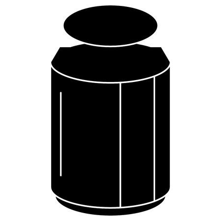 metselaarkruik met vector de illustratieontwerp van de ingrediëntenkeuken