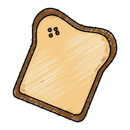 Köstliche Toastbrot isoliert Symbol Vektor-Illustration , Design , Standard-Bild - 82751408