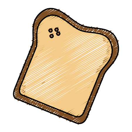 delicious toast bread isolated icon vector illustration design