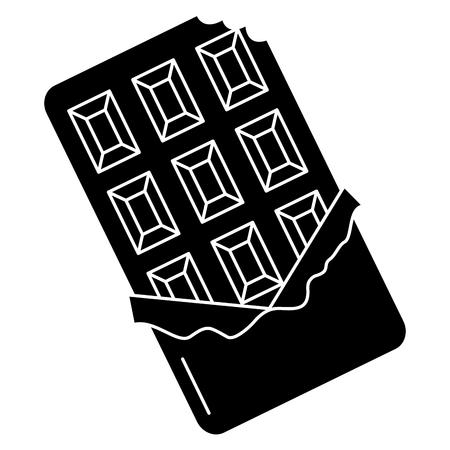Chocoladereep geïsoleerde pictogram vector illustratie ontwerp