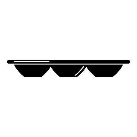 egg container empty icon vector illustration design Ilustração