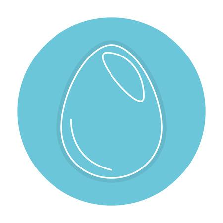 鶏の卵分離アイコン ベクトル イラスト デザイン