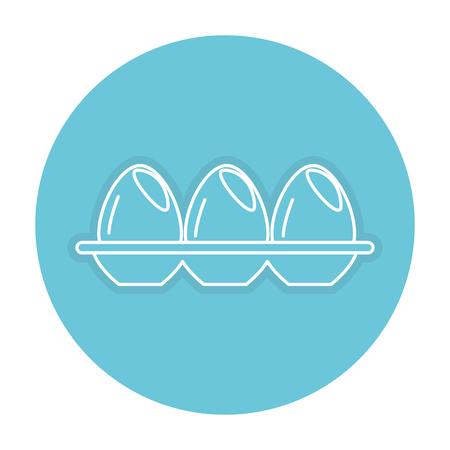Eierbehälter isoliert Symbol Vektor-Illustration Design Standard-Bild - 82751352