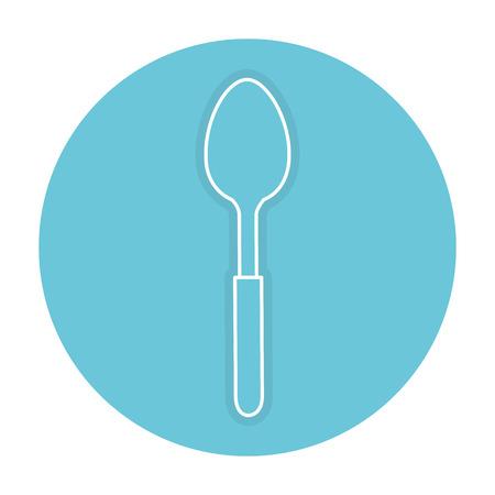 Lepel bestek geïsoleerd pictogram vector illustratie ontwerp