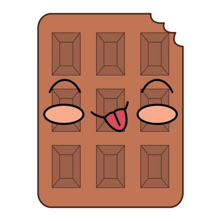chocolate bar kawaii character vector illustration design
