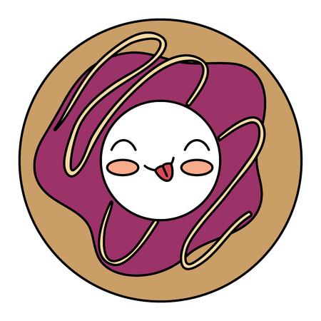 delicious donut kawaii character vector illustration design Illustration
