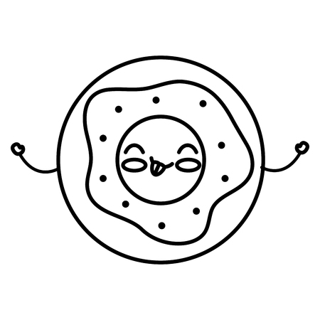 delicious donut kawaii character vector illustration design Illusztráció