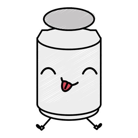 Mason jar with ingredient kitchen character vector illustration design