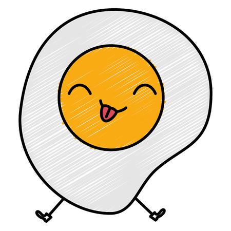 Het ei bakte ontwerp van de karakter vectorillustratie Stockfoto - 82741258